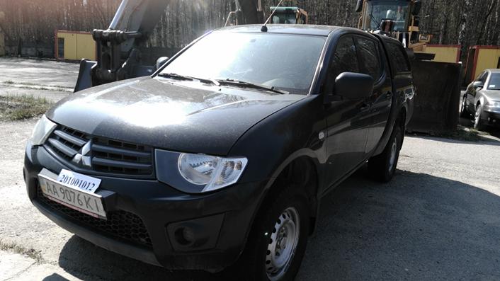 Легковий автомобіль  Mitsubishi L200 Invite (№ кузова MMCJNKB40BDZ03426 держ. №АА 9076 КІ), рік випуску 2010